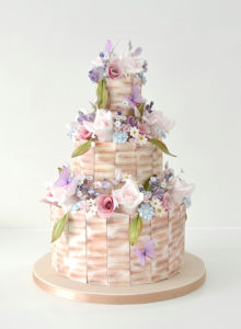 Stunning wedding cake by Alison Newman of the Little Sugar Box