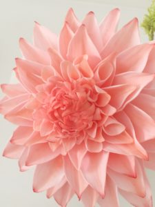 Peach Dahlia sugar flower