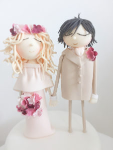 Bride and Groom Custom Cake Topper