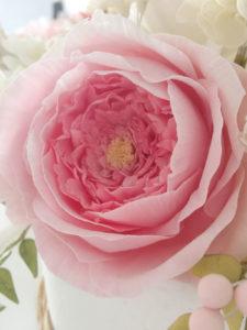 Pink Peony Half sugar flowers